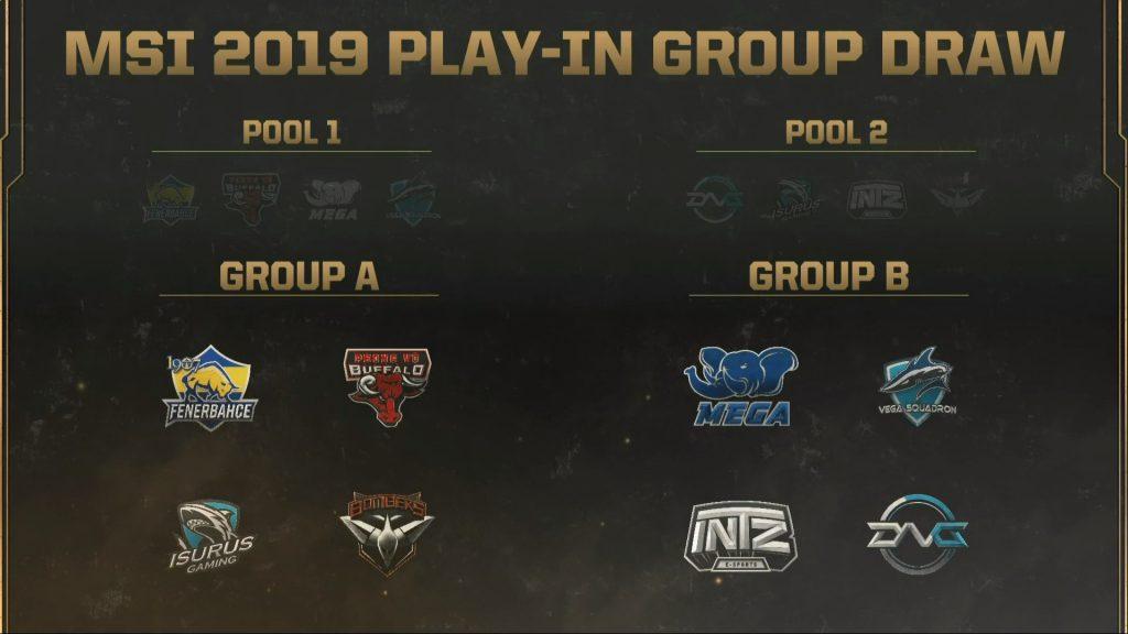 Grupos del Play-In del MSI