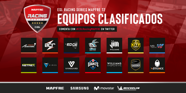 ESL Racing Series Mapfre equipos