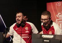 Los jugadores del Monaco celebran la victoria en la eFootball.Pro League