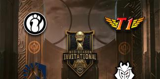 Los cuatro equipos de semifinales del MSI.