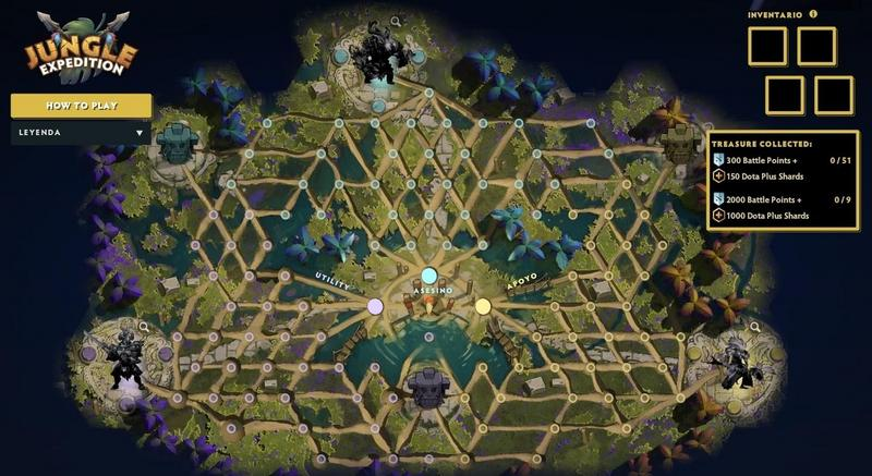 Mapa de misiones Battle Pass The International 2019