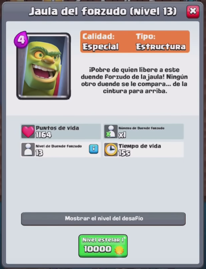 Datos de la nueva carta de Clash Royale