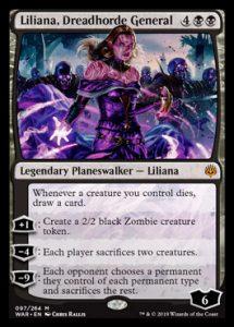 Liliana, Dreadhorde general, carta de Magic: The Gathering.