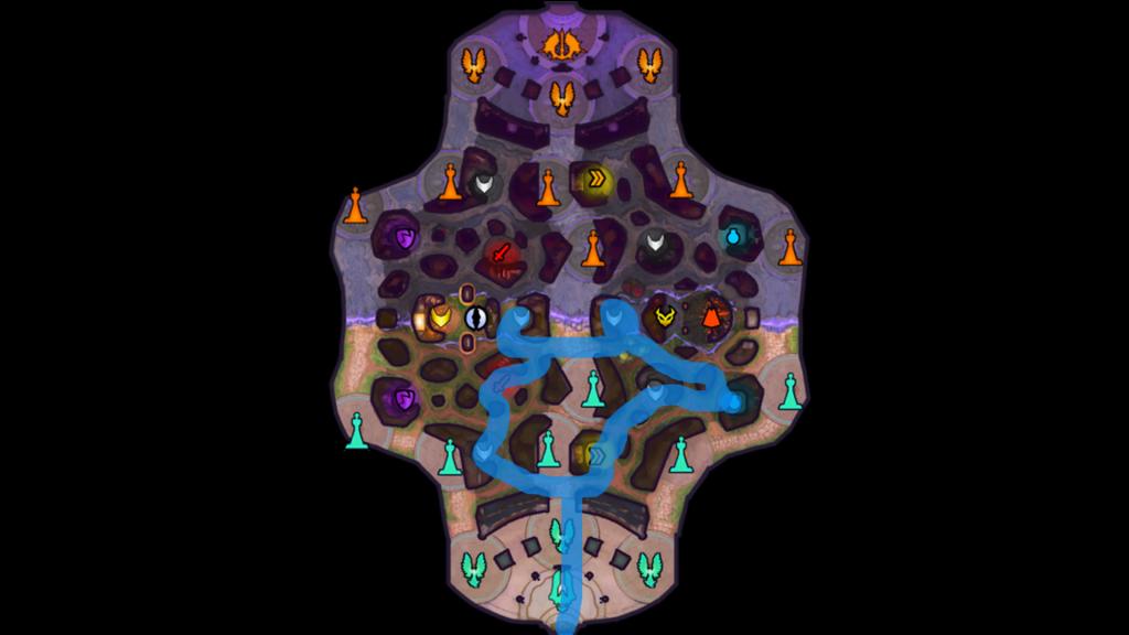 Ejemplo de ruta de jungla estándar.