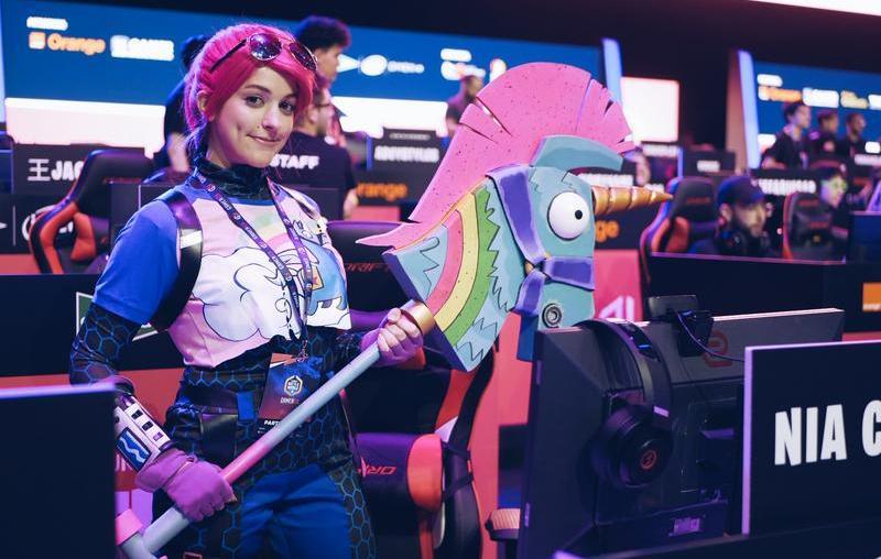 Nia Cosplay en el Stars Battle Royale de Gamergy