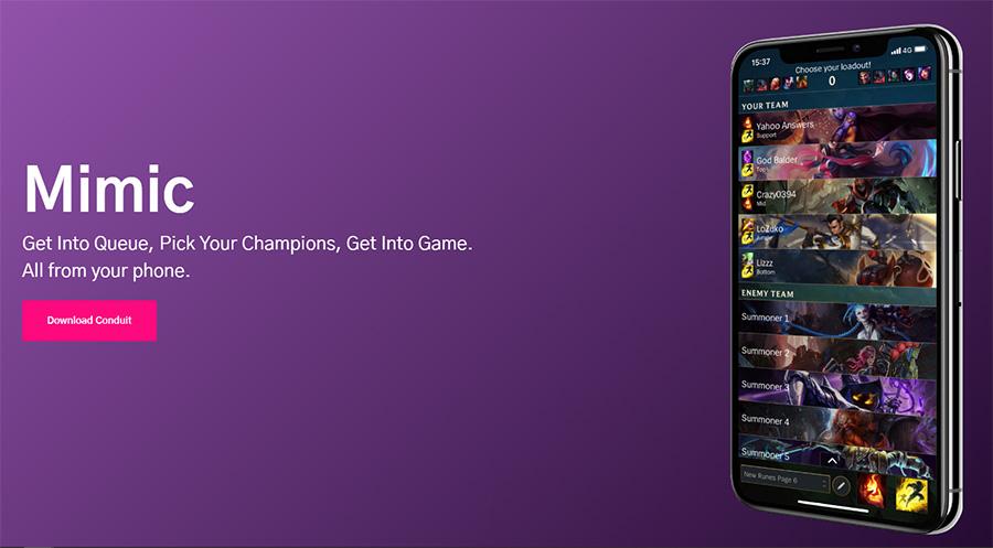 Mimic permite aceptar partidas y mucho más desde el móvil.