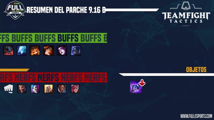 Parche 9.16B de Teamfight Tactics