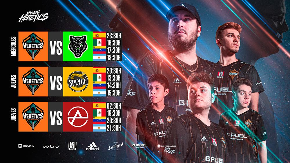 Horarios de los partidos de Team Heretics en el CWL Championship 2019