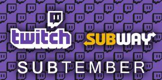 Twitch y Subway se unen en SUBtember