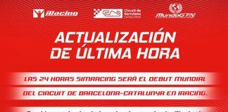 iRacing sustitute a Assetto Corsa como simulador del evento.