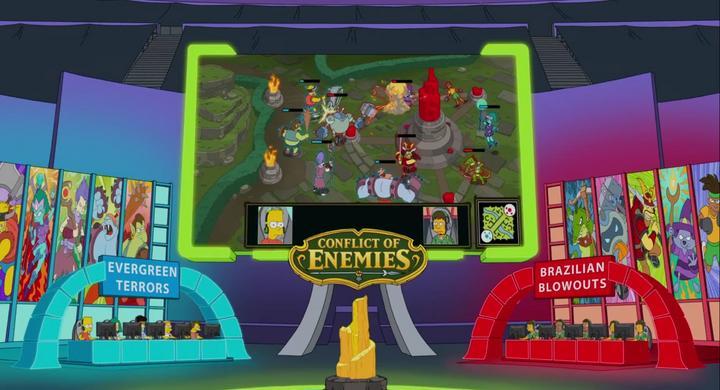 Episodio dedicado de Los Simpsons a los deportes electrónicos