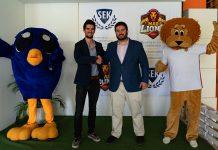 Alejandro Delso y Jonathan Tolosa en el acuerdo entre MAD Lions y SEK