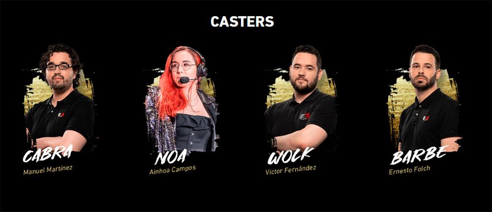 Casters del Mastercard Challenge de ArenaGG