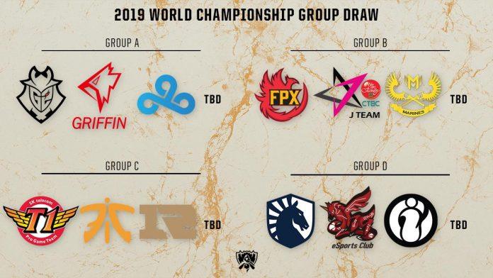 Equipos de la Fase de Grupos de los Worlds 2019