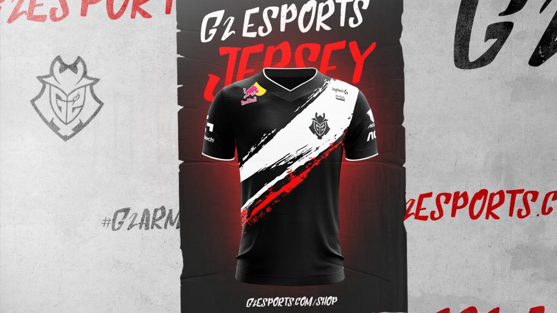 Nueva camiseta de G2 Esports con el logo de Red Bull