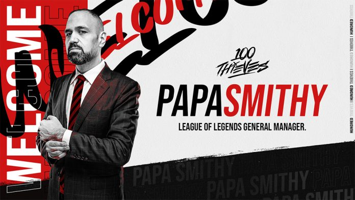 PapaSmithy, el nuevo General Manager de 100 Thieves