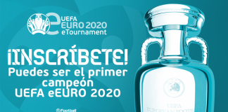 Cartel promociona de la RFEF eEuro 2020