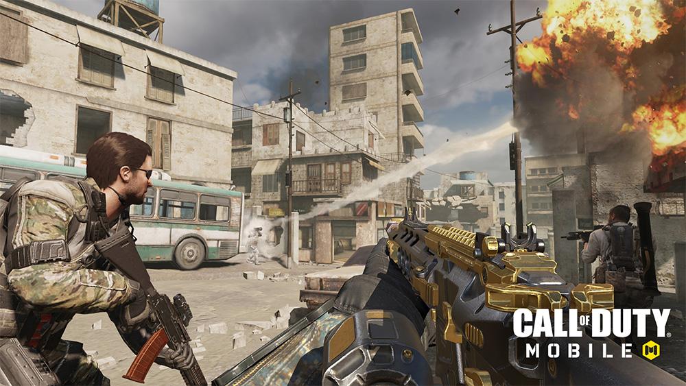 Imagen in-game del mapa de Fuego Cruzado de Modern Warfare.