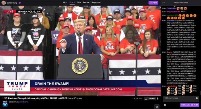 Donald Trump en Twitch