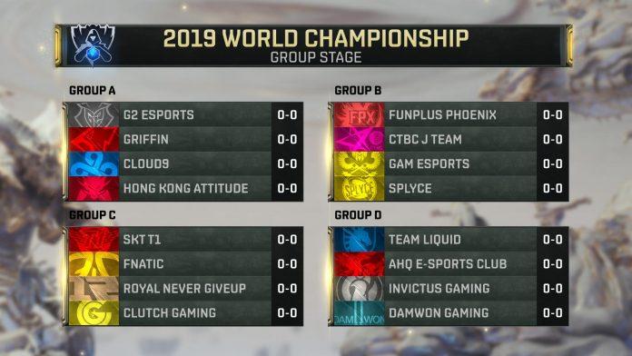 Fase de grupos Worlds 2019