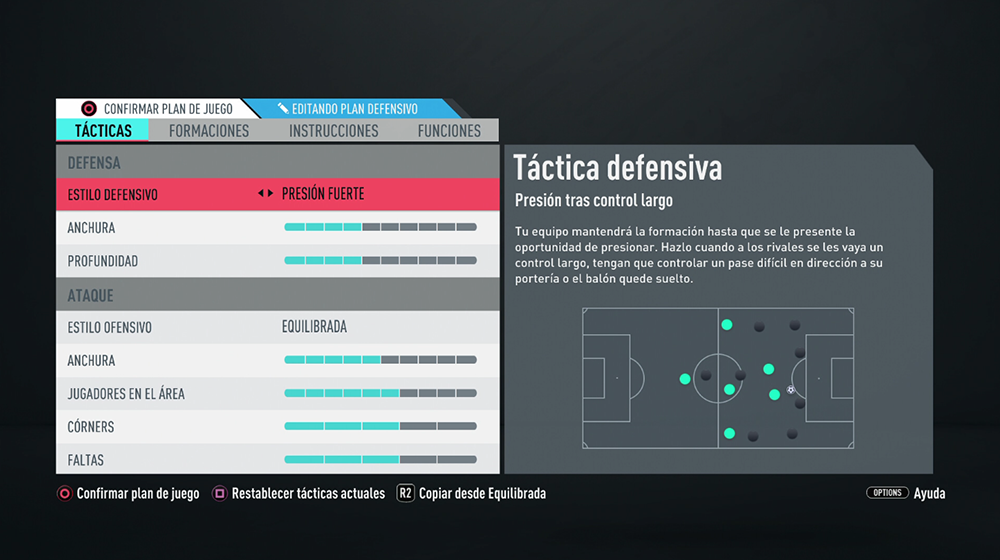 FIFA 20: Tácticas personalizadas 4-2-3-1