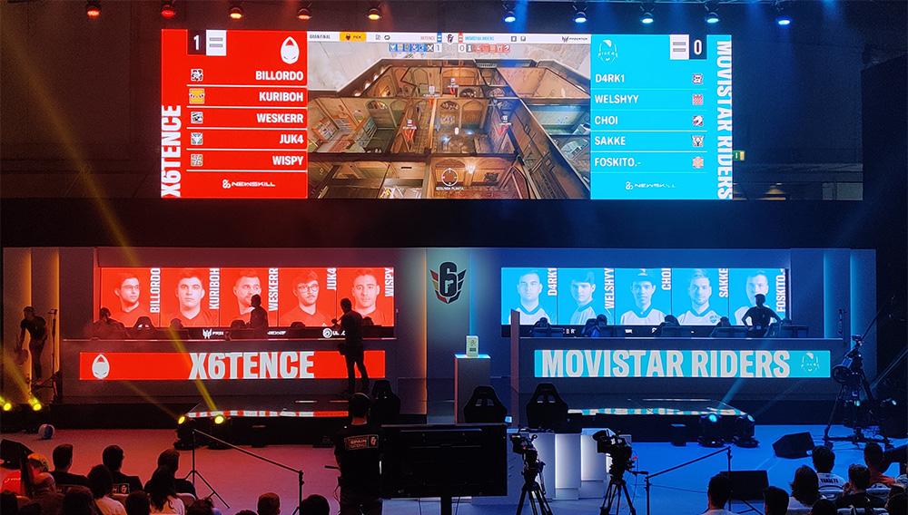Escenario de la final entre x6tence y Movistar Riders
