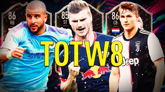 FIFA20: TOTW 8 con Walker, De Ligt y Timo Werner.