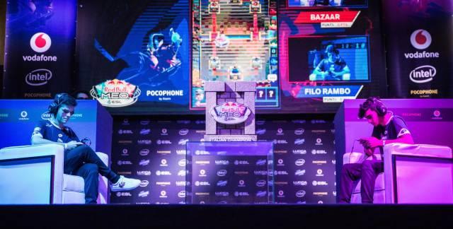 Escenario de las finales en italia de la Red Bull M.E.O.