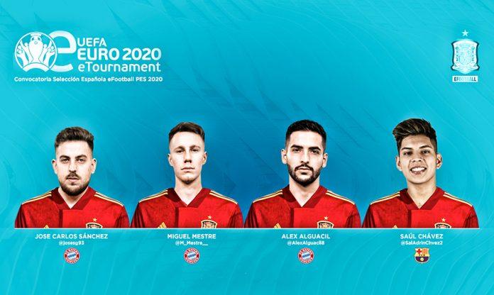 Jugadores que representan a España en la eEurocopa 2020