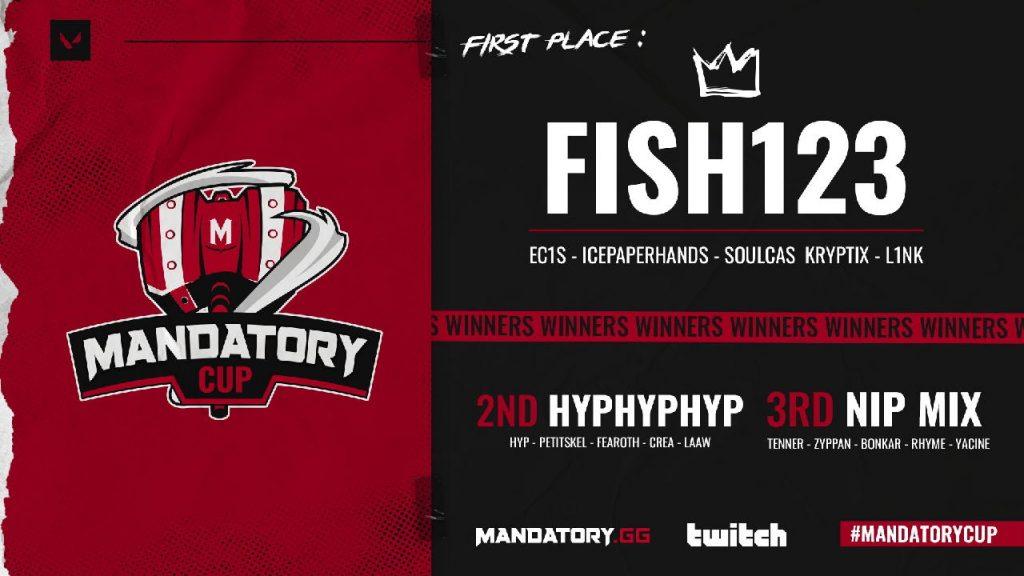 Fish123 gana la Mandatory Cup con los mejores jugadores de valorant