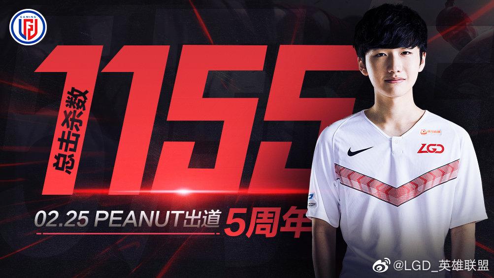 Peanut, jungla actual de LGD Gaming. Formado en Corea, actualmente en China.