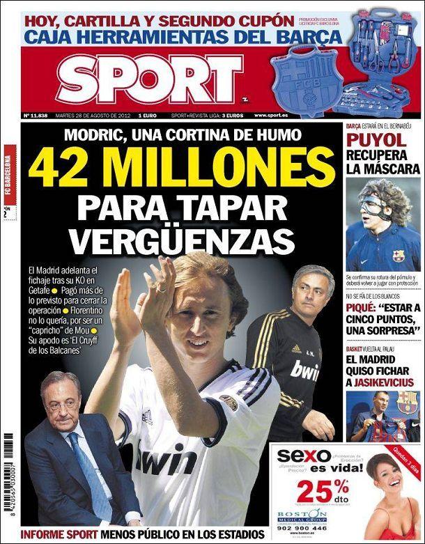 Portada Mundo Deportivo Modric